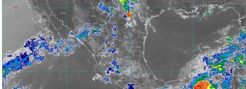 Onda Tropical 5 y dos canales de baja presión causarán lluvias intensas en Chiapas, Oaxaca, Puebla y Veracruz
