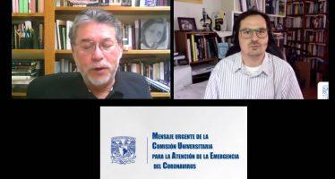 Pide la UNAM no relajar medidas sanitarias y mantener el confinamiento voluntario por la pandemia de Covid-19