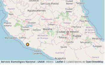 Sismo de 4.3 grados en Coalcomán, Michoacán, este sábado