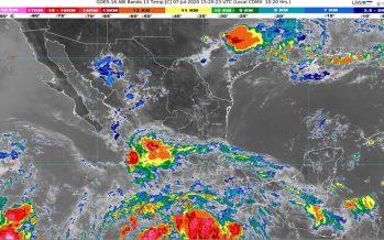 Lluvias intensas en Guerrero y Oaxaca, y centro de México, debido a influencia de tormenta tropical Cristina