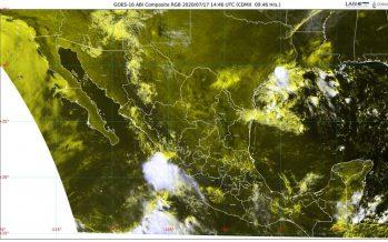 Lluvias muy fuertes, granizo y descargas eléctricas el pronóstico para Durango, Jalisco, Nayarit y Sinaloa