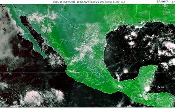 ¡Cuidado! En Durango, Jalisco, Nayarit, Sinaloa y Zacatecas, habrá lluvias muy fuertes, descargas eléctricas y granizada