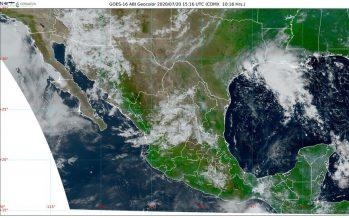 BC y Sonora con temperaturas de 45 a 50 °C; lluvias muy fuertes, descargas eléctricas y granizadas en Chihuahua, Durango, Guerrero y Oaxaca