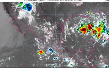 Lluvias intensas y descargas eléctricas en Chiapas, Colima, Jalisco, Michoacán, Oaxaca y Puebla; lluvias en noreste por depresión tropical 8