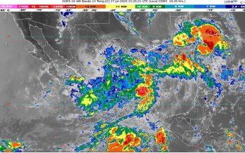 La depresión tropical Hanna, generará lluvias de fuertes a intensas en el norte y noreste de México