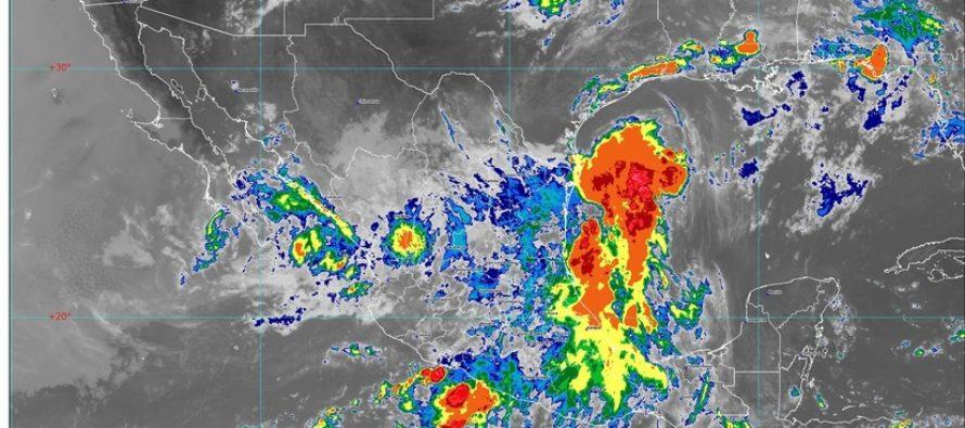 Lluvias intensas en Durango, Jalisco, Nuevo León, San Luis Potosí, Sinaloa, Tamaulipas y Zacatecas; Onda Tropical 22 sobre estados del sur y sureste mexicano