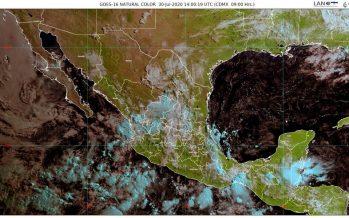 En Durango, Oaxaca, Sinaloa y Veracruz, lluvias intensas con descargas eléctricas y posible granizo
