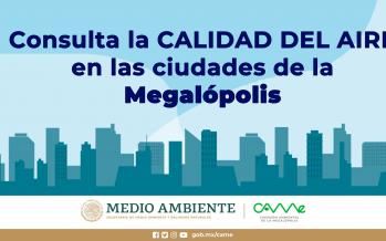 Consulta la calidad del aire en las ciudades de la megalópolis