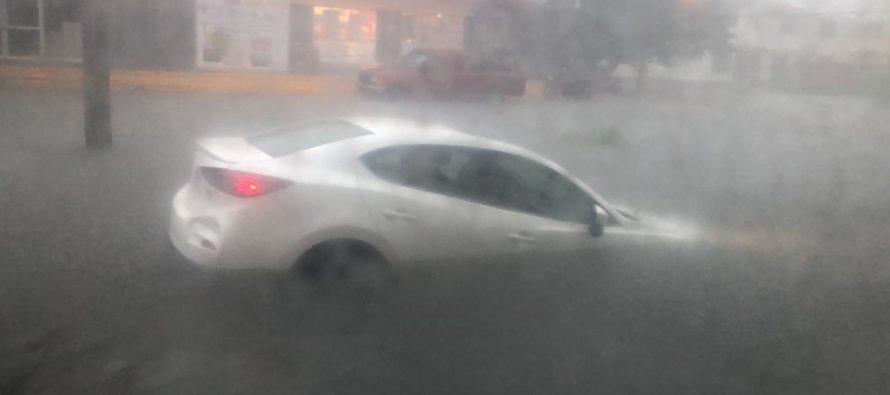 Lluvia, tormenta eléctrica, apagones e inundación esta tarde en Coatzacoalcos