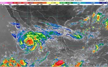 Huracán Genevieve provoca lluvias intensas en Baja California Sur, Colima, Jalisco, Nayarit y Sinaloa