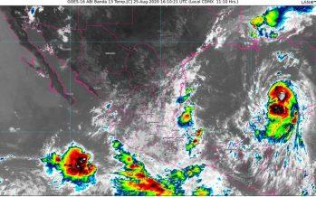 En el Caribe, Laura es huracán 1; lluvias torrenciales en Guerrero, Michoacán, Oaxaca, Puebla y Veracruz; oleaje de 3 a 5 m en el Pacífico