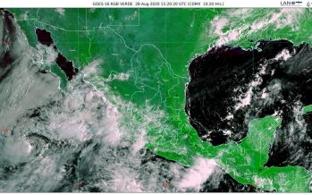 La tormenta tropical Hernan provoca torrenciales para Baja California Sur, Jalisco, Nayarit y Sinaloa; viento de 80 km/h y oleaje de 3 a 5 m