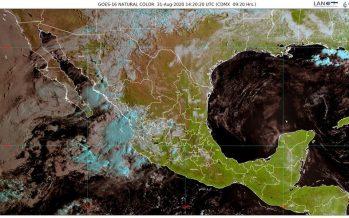 Lluvias en Colima, Durango, Jalisco, Nayarit, Sinaloa y Sonora; surada con viento de 70 km/h en costas de Tamaulipas y Veracruz