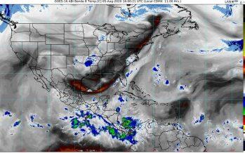 Canal de baja presión, provoca lluvias intensas en Chiapas, Campeche, Tabasco, Quintana Roo, Veracruz y Yucatán.