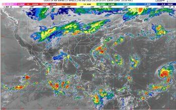 En Chiapas y San Luis Potosí, lluvias intensas con descargas eléctricas; entra Frente Frío Número 2 con rachas de viento de 50 km/h en norte de México