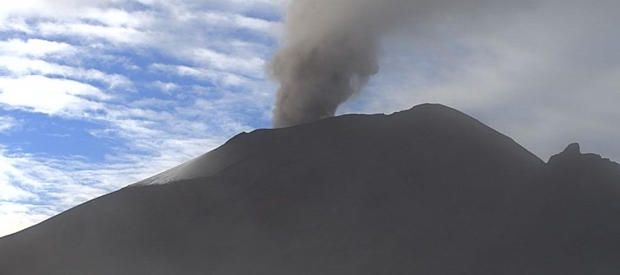 Exhalaciones y tremor del volcán Popocatépetl en las últimas 24 horas; semáforo en Amarillo Fase 2