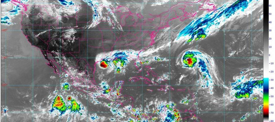 Lluvias intensas en Chiapas y Tabasco, Oaxaca y sur de Veracruz; oleaje de 3 m de altura en costas de Tamaulipas y Veracruz