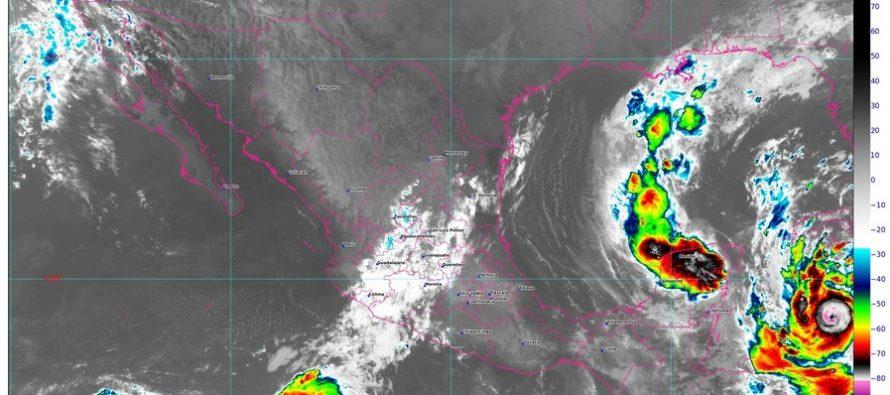Lluvias torrenciales para Campeche y Quintana Roo, e intensas para Yucatán; Delta es huracán categoría 2