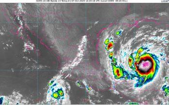 El Huracán Delta ingresó a tierra a las 5:30 am como categoría 2, en la escala Saffir Simpson