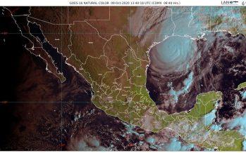 Lluvias muy fuertes en Campeche, Chiapas, Oaxaca y Tabasco
