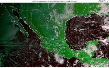 Lluvias en Campeche, Chiapas, Oaxaca, Quintana Roo, Tabasco, Veracruz y Yucatán; heladas en Mesa del Norte y Mesa Central