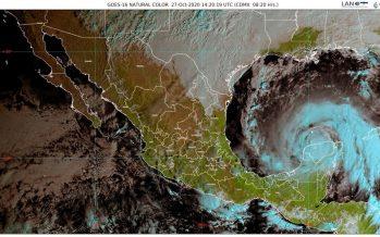Ciclón Zeta cruza hacia el Golfo de México, frente a costas de Yucatán; lluvias en Campeche, Chiapas, Quintana Roo, Tabasco y Yucatán