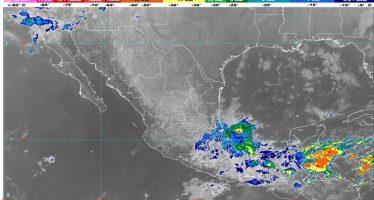 Lluvia en Chiapas, Oaxaca, Puebla, Tabasco y Veracruz; viento de 90 km/h en golfo e istmo de Tehuantepec