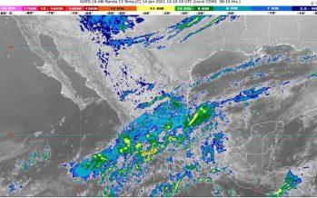 Temperaturas mínimas de -15 a -10 °C esta mañana en zonas montañosas de Chihuahua y Durango; lluvia en el sureste