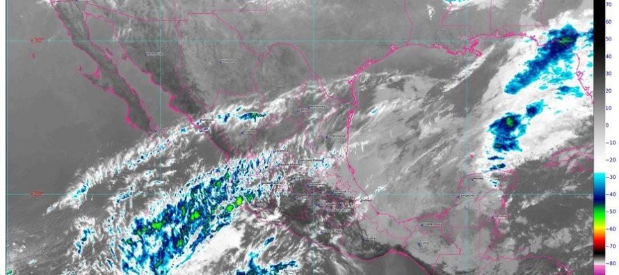Lluvias y descargas eléctricas en Chiapas, Tabasco, Veracruz y la Península de Yucatán; evento de Norte en Tehuantepec