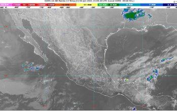 Lluvias intensas en sur de Veracruz, Chiapas y Tabasco; ambiente muy frío en el Valle de México, norte y centro del país